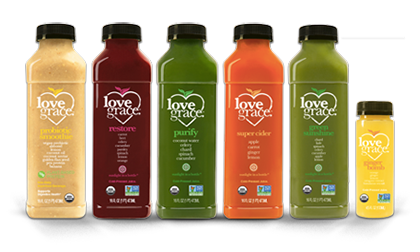 Gourmet Organic Cold-Pressed Juices Love Grace Foods