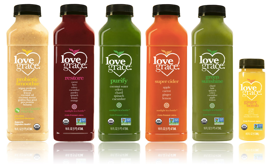 Juice Cleanse by Love Grace | cold pressed organic healthy juices cleanses