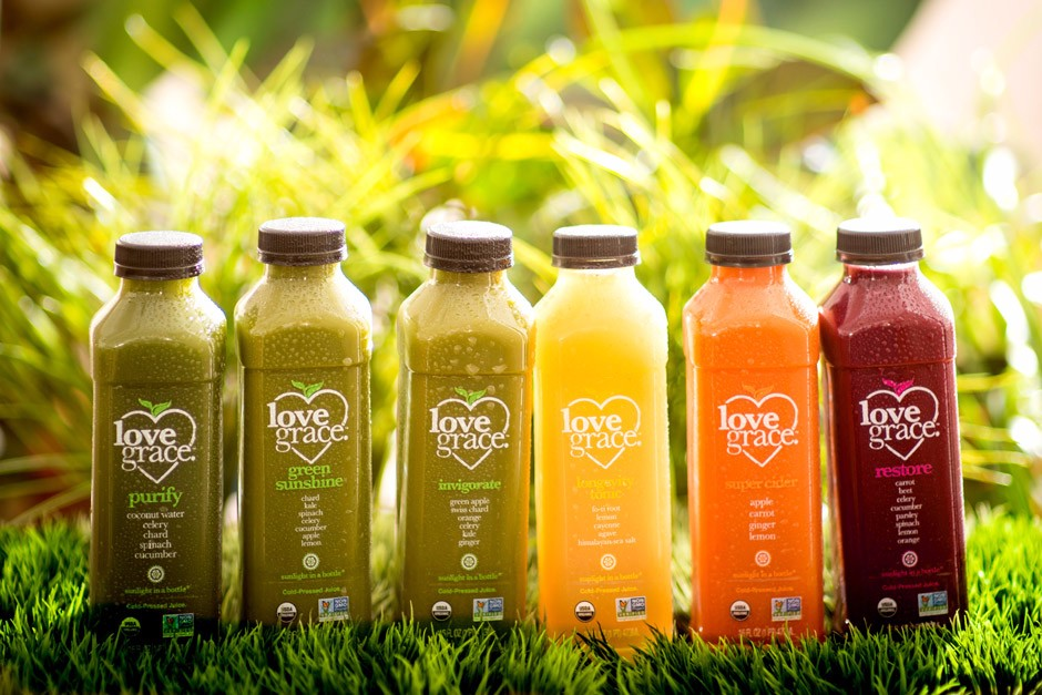 Love Grace Juice Cleanse - Organic non GMO Cold-Pressed Juice Cleanses