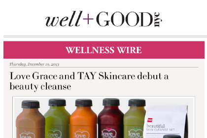 Love Grace and TAY Skincare debut a beauty cleanse