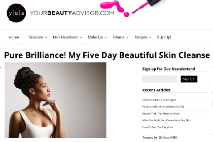 Pure Brilliance! My Five Day Beautiful Skin Cleanse