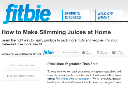 How to Make Slimming Juices at Home