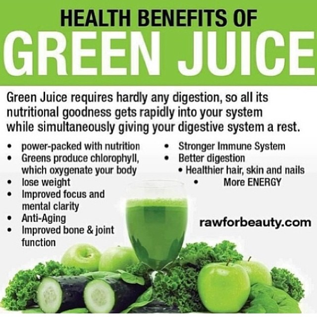 We love this post from @nationalfastagainstmonsanto - it's a great reminder of the many health benefits of GREEN JUICE!