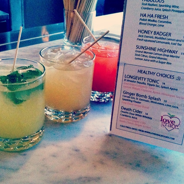 Love Grace cocktails at #TheRiverheadProject Keepin' it healthy and classy!