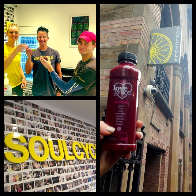 Soul Cycle X Love Grace Juice and Love and Feel Good vibes in NYC!