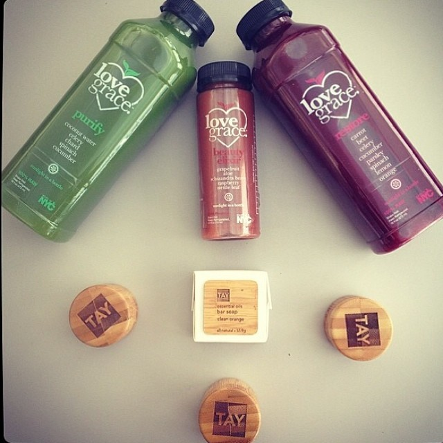Love Grace Juice and @tayskincare together create the ultimate beauty cleanse!Regram from @valisatglam
