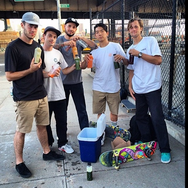 REAL juice for REAL athletes #lgskateteam Regram from @jimmythegreengiant