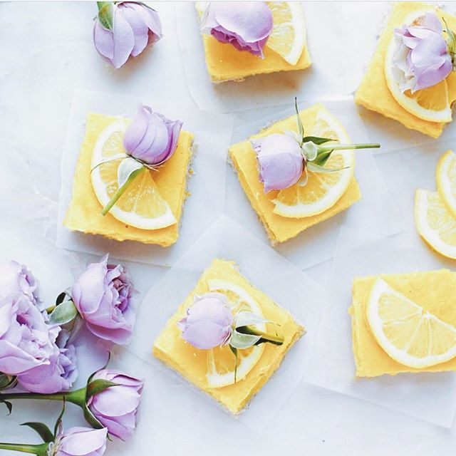 If Spring Sunday's were a dessert 🍋 mmm these @greensmoothiegourmet creamy lemon squares are just #purebeauty and love in a bite! wishing you all a sweet love day x