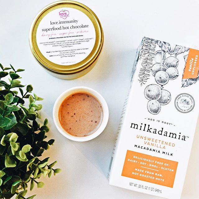 G I V E A W A Y  It can be a little bit scary to step outside your comfort zone and especially your food zone when you are unsure if you will enjoy it. Today we teamed up with our friends @milkadamia to offer a taste bud classic with a superfood twist: unsweetened vanilla milkadamia + love.immunity hot chocolate. One velvety sip and you will find yourself transported right back to your childhood and warmed by the most lovely memories. We will be giving away a goodie pack of hot chocolate and 2 milkadamias {your choice of flavors}..To enter:1) LIKE this post2) FOLLOW @milkadamia + @lovegracefoods3) TAG a friend and tell them {and us} about a food that intimated you until you tried it {and perhaps now you cannot live without it?}.Each tag in a separate comment will garner an extra entry. The winner will be randomly chosen and notified on Friday evening at 9 pm CT. Must live in the United States to be eligible. Good luck! .#milkadamia #lovegracefoods #giveaway