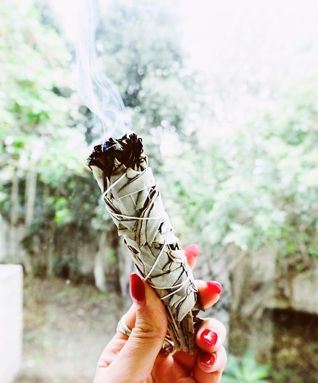 Is it really the weekend without some sage + sunshine?! ️ digging this dreamy ritual vibe from our friends @goddessprovisions