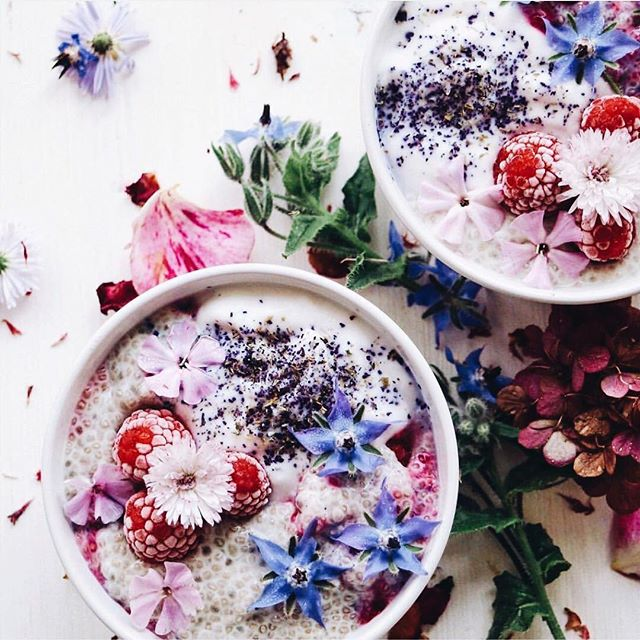 In case you weren't already dreaming of breakfast 💭 no better bedtime incentive than waking up to flowery chia bowls! @vegancuts