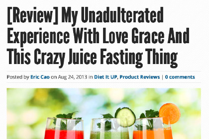 My Unadulterated Experience With Love Grace And This Crazy Juice Fasting Thing