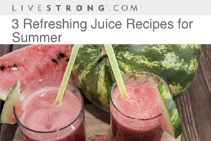 3 Refreshing Juice Recipes for Summer
