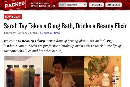 Sarah Tay Takes a Gong Bath, Drinks a Beauty Elixir