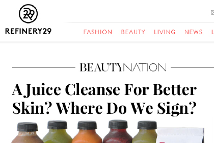 A Juice Cleanse For Better Skin? Where Do We Sign?